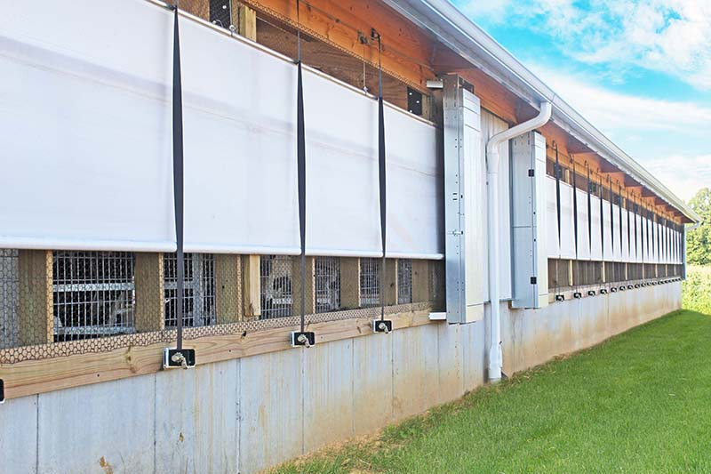 Agricultural Curtain Systems - Double Roll up Curtains ...